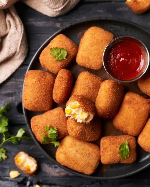Cheese corn nuggets