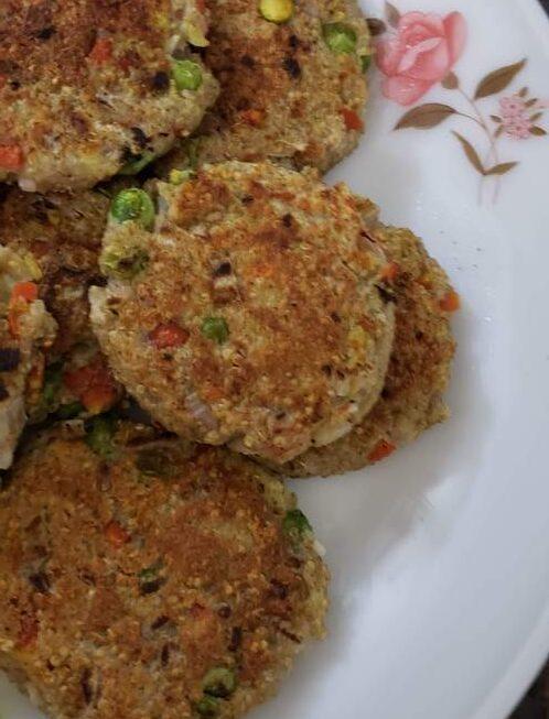 Immunity Boost Recipe Aloo-Quinoa-Veggie Chatpate Tikki