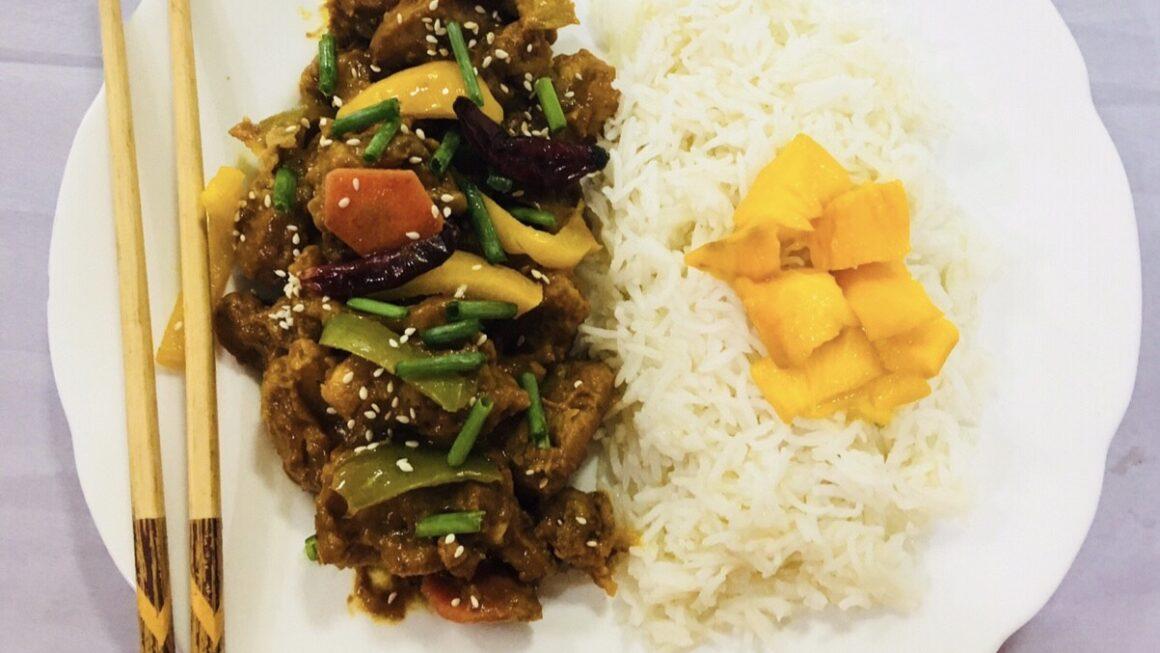Thai sticky Mango Chicken